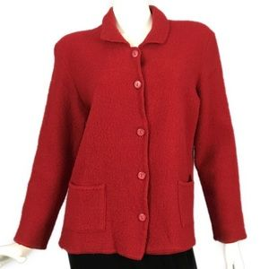 Wool Red Jacket Coat Requirements Petite M MP